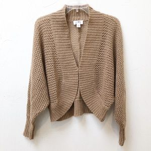 LOFT Womens Sz Medium Tan Bolero Cardigan Sweater